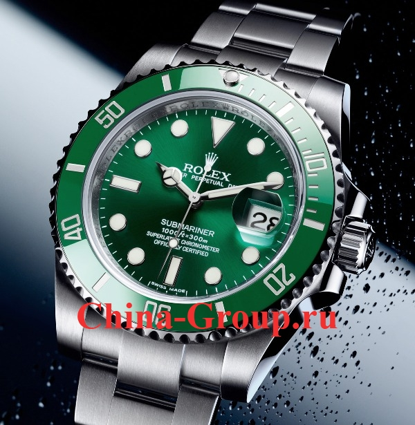 фото Часы подделка Rolex Submariner Green ref 116610LV из Китая photo
