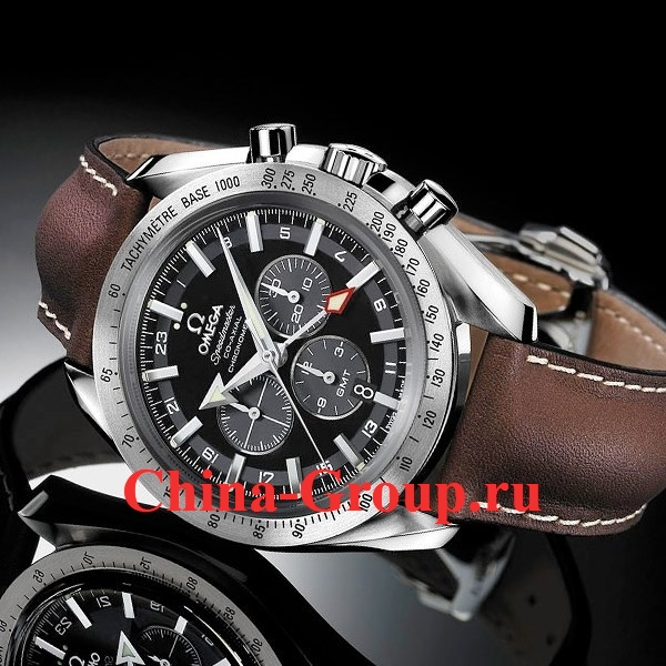 фото Часы Omega Speedmaster Broad Arrow GMT Ref. 3881.50.37 точные копии