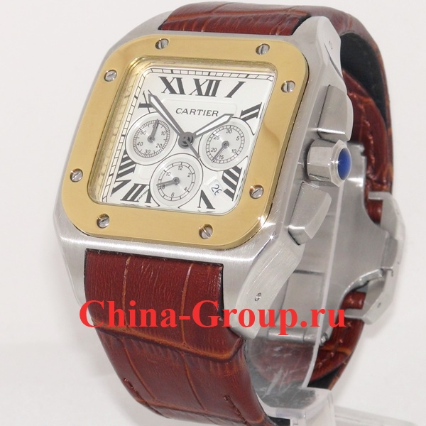 Часы Cartier Santos Chronograph 100 XL 03193