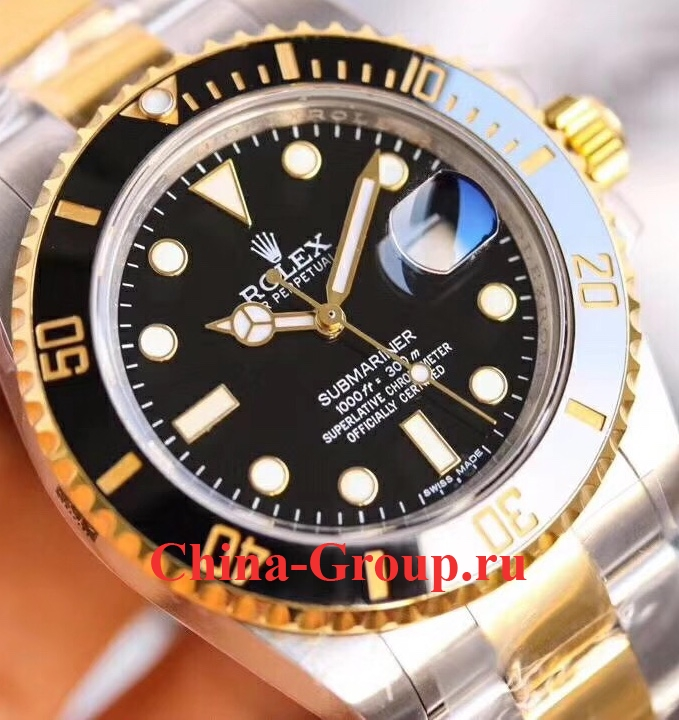 Часы Rolex Submariner Steel Gold 00008