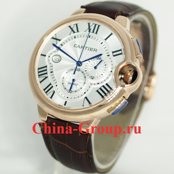Часы Cartier Ballon Bleu De Cartier Chronograph Gold 30422
