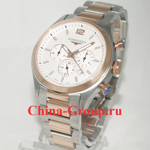 Часы Longines Conquest Classic Chronograph Steel & Gold 60232