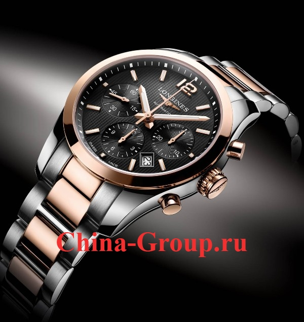 Часы Longines Conquest Classic Chronograph Steel & Gold 60263